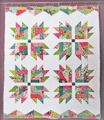 Scrap Crazy Bear Paw Quilt Pattern
